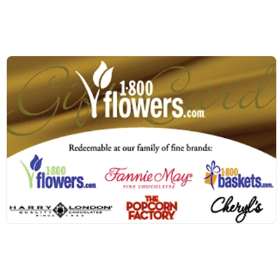 1-800-FLOWERS.COM<sup>&reg;</sup> $10 Gift Card - Order flowers, roses, gift baskets and more.