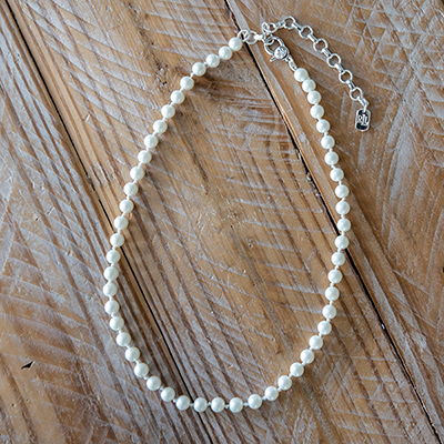 "LAUREN<sup>&reg;</sup>  RALPH LAUREN<sup>&reg;</sup> 8mm Simulated Pearl Necklace - Classically elegant, this simulated pearl necklace features a silver-tone, lobster claw closure.  Necklace circumference is 16"" with 2"" extender."